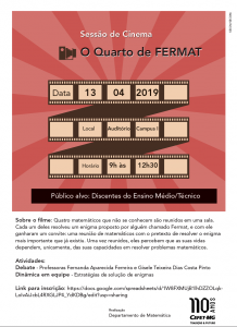 sessão cinema fermat